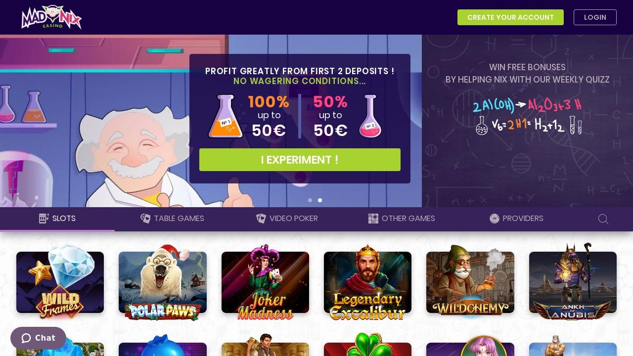 jeux madnix casino